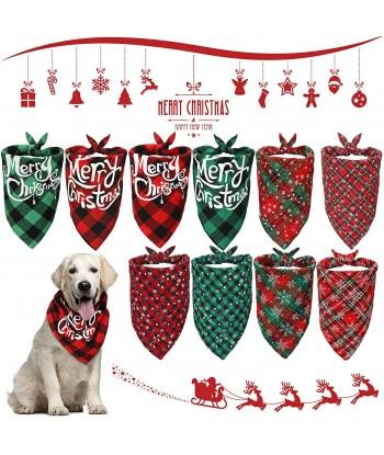 Christmas Pet Scarf Dog...