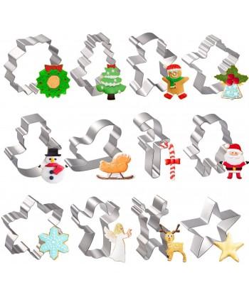 12pcs Christmas Cookie...